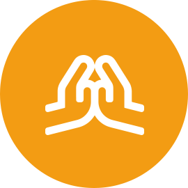 Hands Together Icon