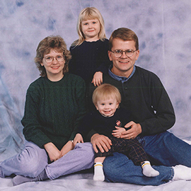 Daniel Wold with Family